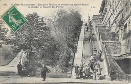 Paris-Montmartre - Escalier Muller Et Montée Au Sacré-Coeur, à Gauche Le Square St-Pierre - Carte J.H. N° 051 - Sacré Coeur