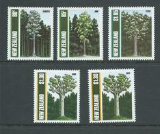 New Zealand 1989 Trees Set Of 4 MNH , Extra $1.30 Value , 3 With Toned Perf Tips - Nueva Zelanda
