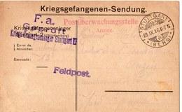 CARTE PRISONNIER DE GUERRE 1914 18 STUTTGART  1916  CACHET  MILITAIRE - Marcophilie (Lettres)