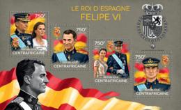 Central Africa 2014   King Of Spain Felipe VI, Queen Of Spain Letizia - Central African Republic