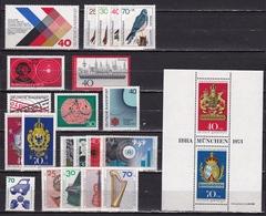 BRD 1973 21 Marken + 1 Block Alle Falzlos Michel 753 / 761 - 763 / 765 - 773 / 777 - 782 / 785 - B 9 - [7] West-Duitsland