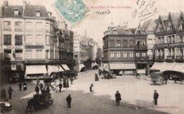 CPA   59  VALENCIENNES---GRAND'PLACE ET RUE SAINT-GERY---1905 - Valenciennes