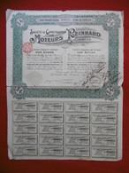 ACTION SOCIETE DE CONSTRUCTION DES MOTEURS REINHARD 1908 AUTOMOBILE - Actions & Titres