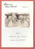 Menu De  MARIAGE Mars 1938 Au CHALET DE CHAMPIGNOL à CHAMPIGNY LA VARENNE St HILAIRE Scène De Genre Romantique - Menus