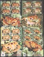 K631 2014 AITUTAKI WWF FAUNA FISH & MARINE LIFE SPOTTED REEF CRABS !!! MICHEL 46 EURO !!! 4KB MNH - W.W.F.