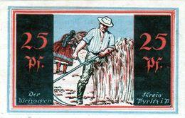 Billet De Nécessité Allemand De 25 Pfennig 1 Février 1921 - - 1918-1933: Weimarer Republik