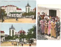ALGERIE Lot 3 Cartes Couleur Aqua-Photo LVC Non écrites De CONSTANTINE Palais Justice, Enfants Juifs, Cathédrale - Constantine