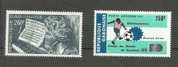 Gabon Poste Aérienne N°194, 196 Neufs** Cote 6.20 Euros - Gabón (1960-...)