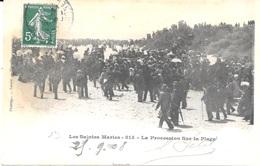13 - Les Saintes Maries N° 815 - La Procession Sur La Plage -  GITANS - Circulé 1908 - Photoptypie Lacour, Marseille - Saintes Maries De La Mer