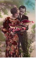 CP Représentant Un Couple Avec  2 Poissons - Indication 1er Avril Dans Le Coin Supérieur Gauche - 1er Avril - Poisson D'avril