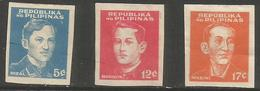 Philippines (Japanese Occupation)  - 1944 National Heroes Imperf MH *     Sc N32a-4a - Philippines