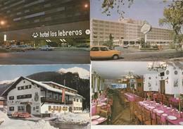12 Cartes---hotels--restaurants Pays Etrangers - Postkaarten