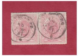 LUXEMBOURG--YVERT & TELLIER  N°18 EN PAIRE OBLITEREE -- - 1859-1880 Wappen & Heraldik