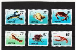ECK946 ALBANIEN 1968  MICHL 1299/05 ** Postfrischer SATZ SIEHE ABBILDUNG - Albanien