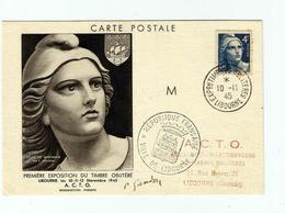 Carte Maximum Pierre GANDON Avec Signature Manuscrite - 1945- étude De Marianne - Autogramme & Autographen