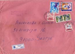 BIG COVER - Serbia Kosovo Pec - R - Letter ,stamps And Bihac Tax Stamp - Supplement Stamp 1989 - 1945-1992 Repubblica Socialista Federale Di Jugoslavia