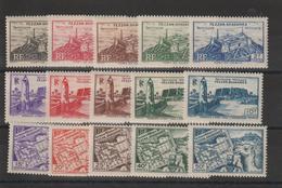 Fezzan Série 28-42 15 Val. * Charnière - Fezzan (1943-1951)