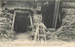 PARIS - Construction Du Chemin De Fer Métropolitain,travaux Souterrains Ligne  N°4,Porte Clignancourt-Porte D'Orléans. - Metropolitana, Stazioni