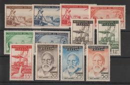 Fezzan Série 56-67 12 Val. * Charnière - Fezzan (1943-1951)