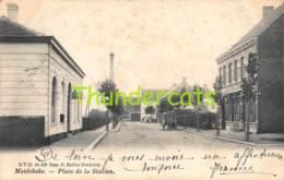CPA MEULEBEKE PLACE DE LA STATION CAFE DES VOYAGEURS - Meulebeke