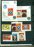 BELIZE 75 ROTARY 7 VAL + BF NEUFS A PARTIR DE 4 EUROS - Rotary, Lions Club