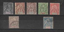 Gabon 1904-7 N° 16 à 21 + 23 Soit 7 Val Oblit / Used - Used Stamps