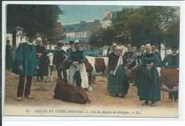 Moeurs Et Types Bretons-Coin De Marché En Bretagne - Bretagne