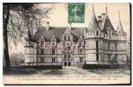 CPA Azay Le Rideau Indre Et Loire Chateau National XVI Siecle Facade N Des Ailes Meridionale Et Occi - Azay-le-Rideau