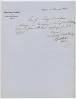 Liesthal 13.1.1862 St.Louis Entête: Staats-Cassa-Verwaltung Des Kantons Basel-Landschaft - Historical Documents