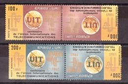 Guinée - 1965 - Paires Tête-bêche Des PA N° 54 Et 55 - Neufs * - UIT - Guinea (1958-...)