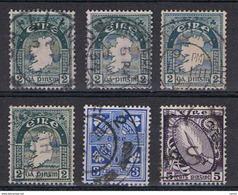 IRLANDA:  1922/24  DEFINITIVA  -  6  VAL. US. -  YV/TELL. 43//47 - 1922-37 Stato Libero D'Irlanda