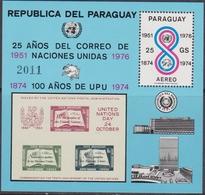 Paraguay 1976 - UPU ONU Stamp On Stamp Sheet 283 MNH - UPU (Wereldpostunie)
