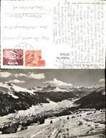 587616,Foto Ak Blick V. D. Strela-Alp Auf Schatzalp U. Davos Winteransicht Switzerlan - GR Graubünden