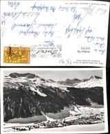 412753,Blick Vom Strelapass Auf Davos Totale Bergkulisse Winterbild Kt Graubünden - GR Graubünden