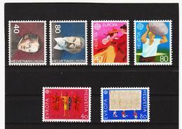 LVT365 EUROPA CEPT 1980/82 SCHWEIZ Michl 1174/75 + 1197/98 + 1221/22 ** Postfrisch - Europa-CEPT