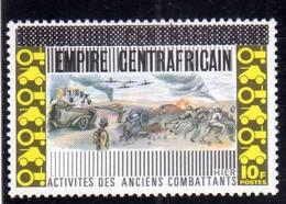 REPUBBLICA CENTRAFRICANA CENTRAFRICAINE CENTRAL AFRICAN REPUBLIC 1974 ACTIVITES DES ANCIENS COMBATTANTS VETERANS 10f MNH - Repubblica Centroafricana