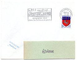 DROME - Dépt N° 26 = VALENCE GARE 1967 = FLAMME Codée = SECAP ' PTT Vous OFFRENT SITUATIONS AVENIR ' - Marcophilie (Lettres)