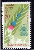 UAR EGYPT EGITTO 1981 AIR DEFENCE DAY GIORNO DELLA DIFESA ROCKET 20m MNH - Egitto