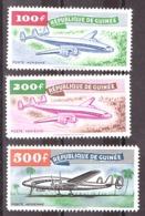Guinée - 1959 - PA N° 1, 2 Et 3 - Neufs ** - Avions - Guinée (1958-...)