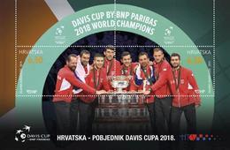 CROATIA 2019,SPORT, TENNIS,DAVIS CUP 2018,BLOCK,,,MNH - Tennis