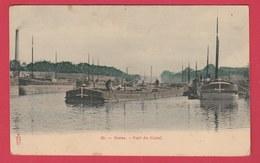 Reims - Port Du Canal ... Plusieurs Péniches - 1905  ( Voir Verso ) - Reims