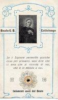 Santino Antico BEATO GIUSEPPE BENEDETTO COTTOLENGO Con RELIQUIA (Ex-Indumentis) - P100 - Godsdienst & Esoterisme