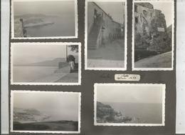 CALVI (CORSE) 6 PHOTOS TIREES 'UN ALBUM SEPTEMBRE 1937 (DONT LIEU DE NAISSANCE DE CHRISTOPHE COLOMB) - Lieux