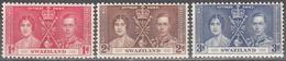 SWAZILAND    SCOTT NO. 24-26     MNH     YEAR  1937 - Swaziland (...-1967)