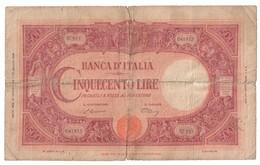 Italy 500 Lire 22/07/1946 Repaired - Riparato - 500 Lire