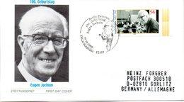 """BRD Schmuck-FDC """"100. Geburtstag Von Eugen Jochum"""", Mi.2284 ESSt 10.10.2002 BERLIN ZENTRUM - [7] République Fédérale"""