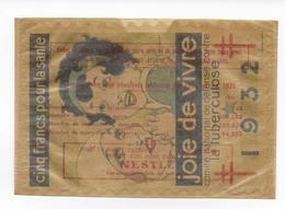 1932 - VIGNETTE TUBERCULOSE GRAND FORMAT 160X115 à COLLER Sur VITRINE Ou AUTO Dans Son ENVELOPPE CRISTAL - Erinnofilia