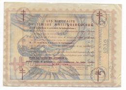 1936 - VIGNETTE TUBERCULOSE GRAND FORMAT 160X115 à COLLER Sur VITRINE Ou AUTO Dans Son ENVELOPPE CRISTAL - Erinnofilia