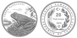 AC - TOROS KURBAGASI - RANA HOLTZI - TAURUS FROG COMMEMORATIVE OXIDE SILVER COIN PROOF - UNCIRCULATED TURKEY 2019 - Turquia