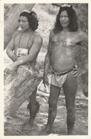 Guyane : Hommes En Pose : ( Carte Photo ) - Guyane